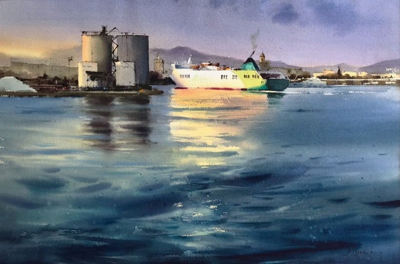 We set sail_watercolor_56x38 cm_EUR800_2019